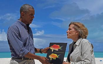 Obama! What a fish!