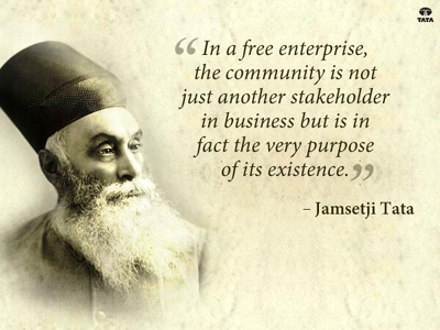Jamsetji Nusserwanji Tata (3 March 1839 – 19 May 1904) was an Indian pioneer industrialist, who founded the Tata Group, India's biggest conglomerate company.