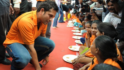 10. The philanthropic Sachin