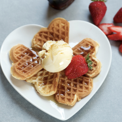 9. Waffles, ice cream, fresh fruits = Comfort food!
